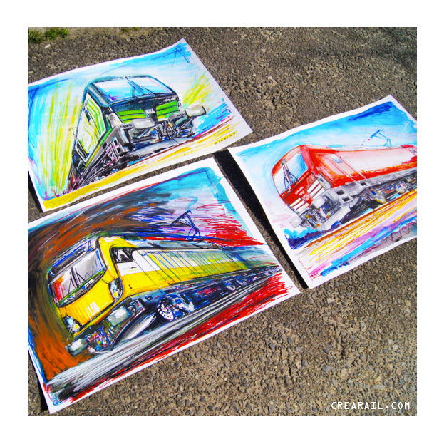 Locomotives on your wall