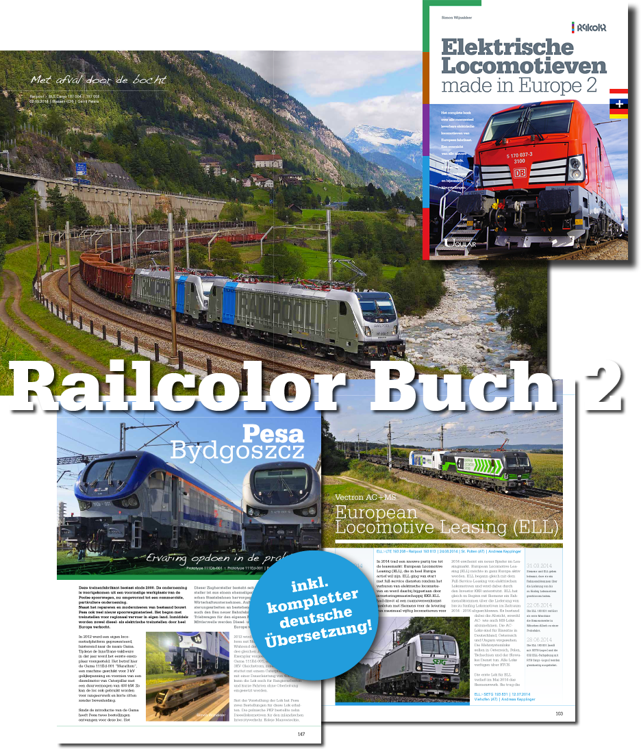 Railcolor books: possible the most colorful railway books around!